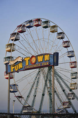 Funtown Ferris Wheel Poster by Terry DeLuco
