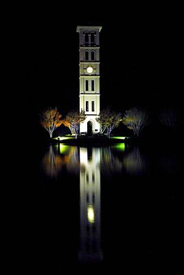 Furman University Tower  Greenville Sc Poster by Willie Harper