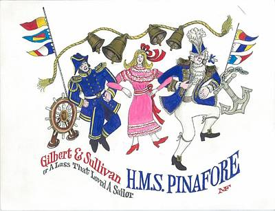 G And S  Hms Pinafore Poster by Marty Fuller