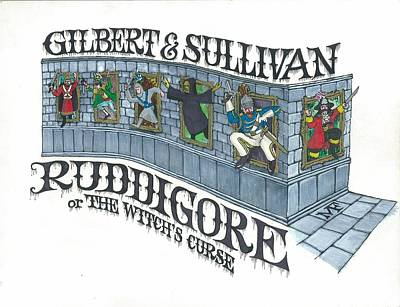 G And S Ruddigore Poster by Marty Fuller