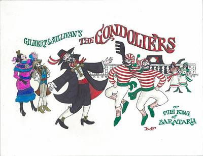 G And S The Gondoliers Poster by Marty Fuller