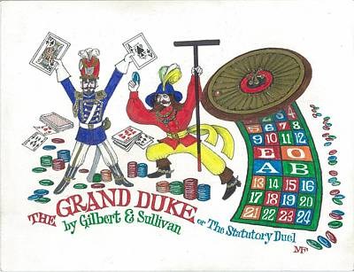 G And S  The Grand Duke Poster by Marty Fuller
