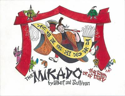 G And S The Mikado Poster by Marty Fuller