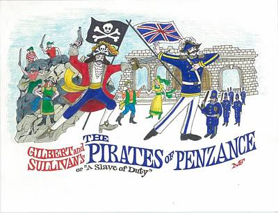 G And S  The Pirates Of Penzance Poster by Marty Fuller