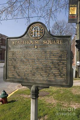 Ga-005-19 Statehouse Square Poster by Jason O Watson