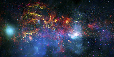 Galactic Storm Poster by Jennifer Rondinelli Reilly - Fine Art Photography