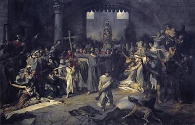 Gallait, Louis 1810-1887. The Plague Poster by Everett