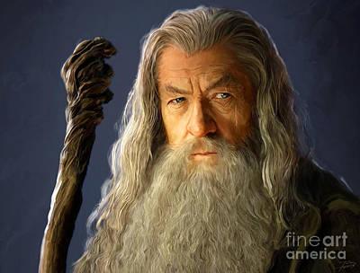 Gandalf Poster by Paul Tagliamonte