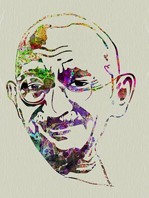 Gandhi Watercolor Poster by Naxart Studio