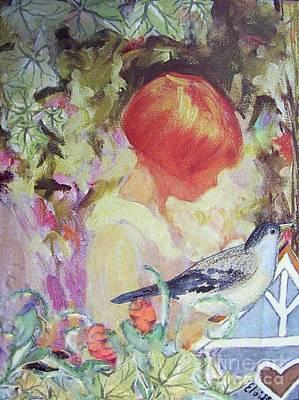 Garden Girl - Antique Collage Poster by Eloise Schneider