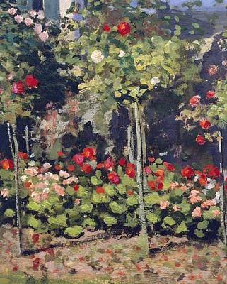 Garden In Bloom Poster by Claude Monet