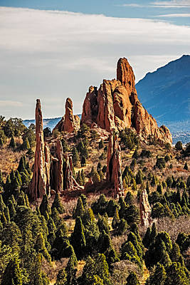 Garden Of The Gods Rock Formations Poster by Paul Freidlund
