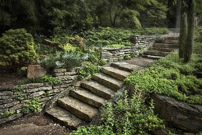 Garden Steps Poster by Tom Mc Nemar