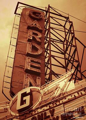 Garden Theater Poster by Jim Zahniser