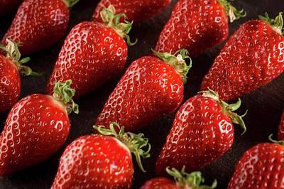 Gariguette Strawberries Poster by Aberration Films Ltd
