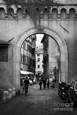 Gate Way Entrance To Trastavere Rome Lazio Italy Poster by Joe Fox