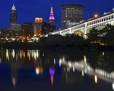 Gateway To Cleveland Poster by Frozen in Time Fine Art Photography
