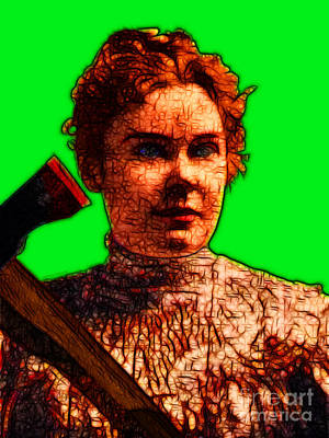 Gave Her Father Forty Whacks - Green Poster by Wingsdomain Art and Photography