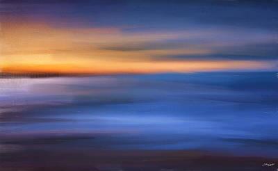 Gazing The Horizon Poster by Lourry Legarde