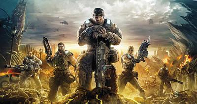 Gears Of War Artwork Poster by Sheraz A
