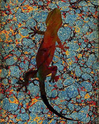 Gecko Poster by Celestial Images