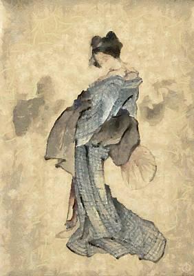 Geisha Poster by Gun Legler