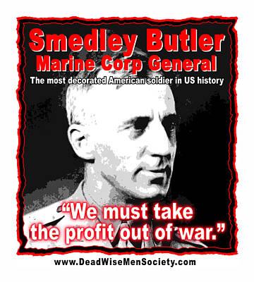Gen. Smedley Butler On War Profit Poster by K Scott Teeters