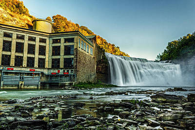 Genesee River Waterfall 2 Poster by Tim Buisman