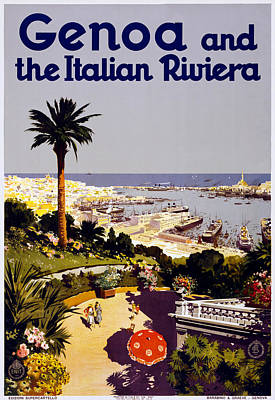 Genoa Italy Poster by Georgia Fowler