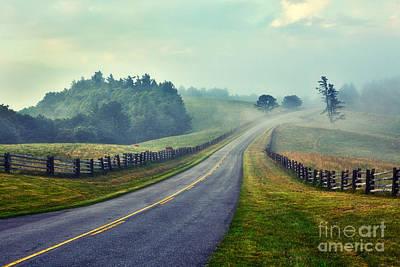 Gentle Morning - Blue Ridge Parkway II Poster by Dan Carmichael
