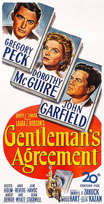 Gentlemans Agreement, Us Poster Poster by Everett