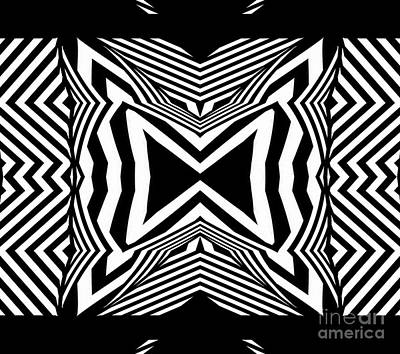 Geometric Black White Abstract Art Print No.312. Poster by Drinka Mercep