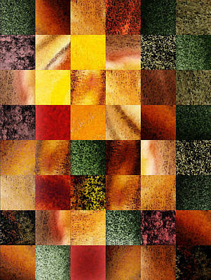 Geometric Design Squares Pattern Abstract I  Poster by Irina Sztukowski