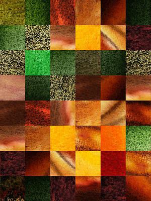 Geometric Design Squares Pattern Abstract IIi  Poster by Irina Sztukowski