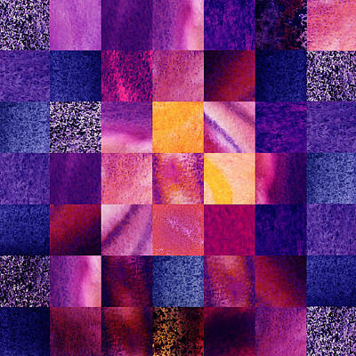 Geometric Design Squares Pattern Abstract Vi  Poster by Irina Sztukowski