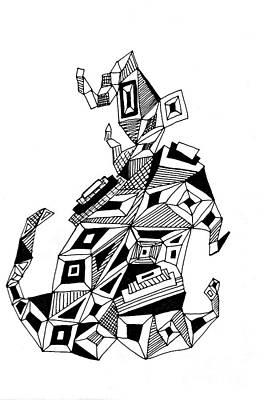 Geometric Dog Poster by Sarah Loft