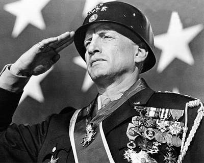 George C. Scott In Patton  Poster by Silver Screen