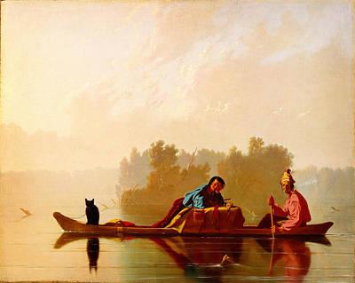 George Caleb Bingham Fur Traders Descending The Missouri Wga2205 Poster by MotionAge Designs
