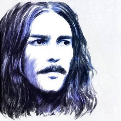 George Harrison Portrait Poster by Wu Wei