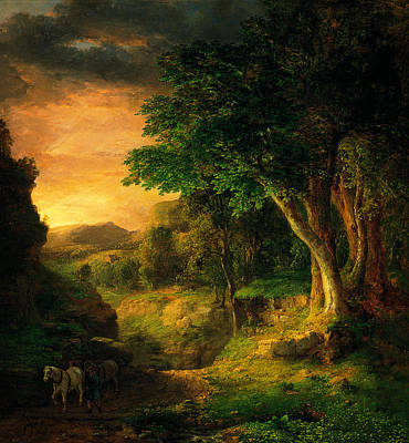 George Inness In The Berkshires Poster by MotionAge Designs