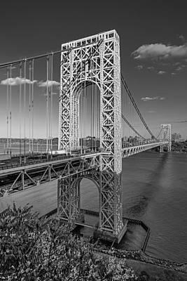 George Washington Bridge Bw Poster by Susan Candelario