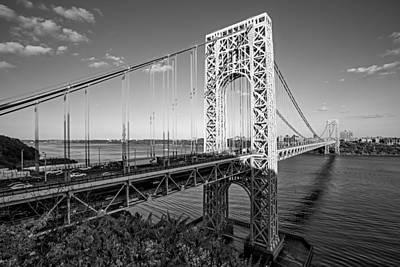 George Washington Bridge Nyc Bw Poster by Susan Candelario