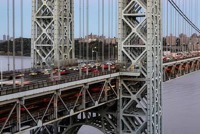George Washington Bridge Rush Hour Poster by Susan Candelario