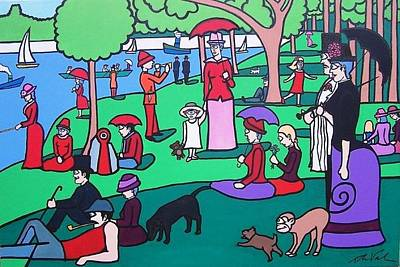 George Seurat- A Cyclops Sunday Afternoon On The Island Of La Grande Jatte Poster by Thomas Valentine