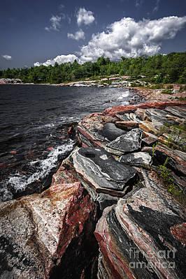 Georgian Bay Rocks I Poster by Elena Elisseeva
