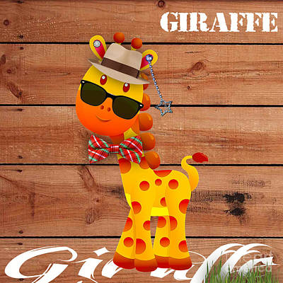Georgie Giraffe Collection Poster by Marvin Blaine