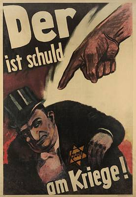 German Anti-semitic Poster. Der Ist Poster by Everett