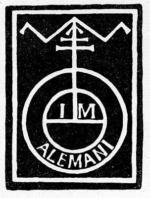 German Printer's Mark Poster by Cci Archives