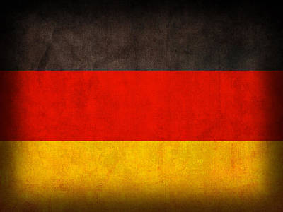 Germany Flag Vintage Distressed Finish Poster by Design Turnpike