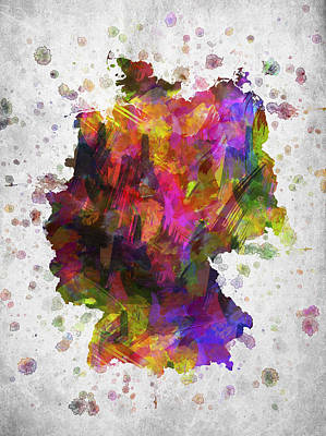 Germany In Color Poster by Aged Pixel